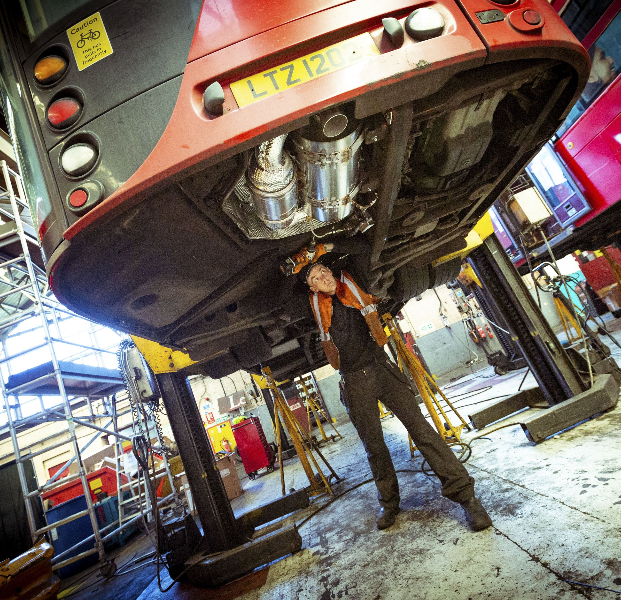 Controlling emissions of London Buses